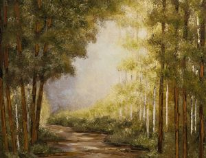 Wooded Path, Breaking Light