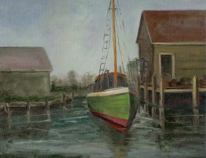 Early Harbor Scene